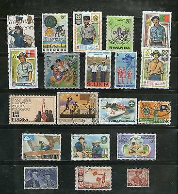 20 Diff. Scouts & Guides, Large, Commemo.,mnh &  Fu, # 6