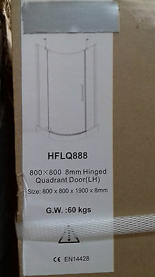 Luxuary Left Hand Shower Enclosure With Low Profile Tray
