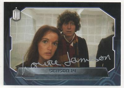 """Dr Who Topps Trading Card No.179 Auto by Louise Jameson """"Leela"""""""