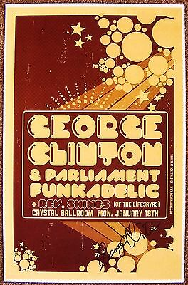 Signed GEORGE CLINTON Gig POSTER In-Person w/proof Autograph Concert