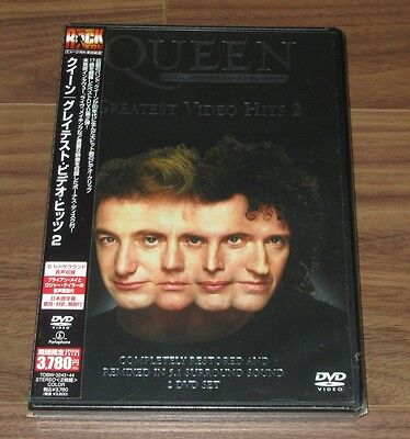 Sealed PROMO RE-ISSUE! QUEEN Japan 2 x DVD G/Hits 2 Freddie Mercury MORE LISTED
