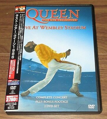 PROMO reissue QUEEN Japan 2 x DVD Live At Wembley MORE LISTED Freddie Mercury
