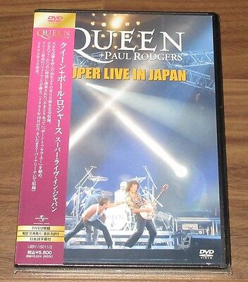 Sealed PROMO! QUEEN Japan DVD Super Live PAUL ROGERS not FREDDIE MERCURY more!