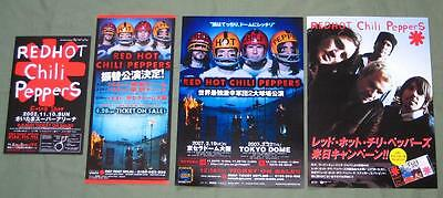 RED HOT CHILI PEPPERS Japan PROMO 4 x handbill / flyer set MINI POSTER