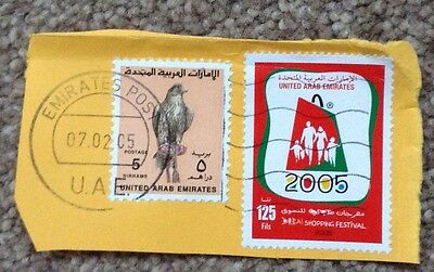 United Arab Emirates 2 X 2005 Used Stamps With Clear PO Frank