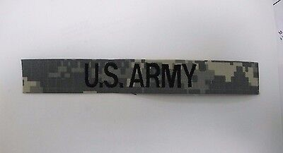 US ARMY ACU DIGITAL CUSTOM EMBROIDER NAME TAPE VARIOUS COLORS Velcro® Option