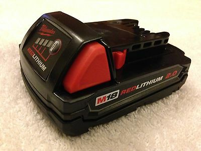 New Milwaukee 48-11-1820 M18 18V 18 Volt 2.0 Ah Red Lithium Ion Battery Li-ion