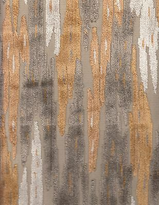 12.875 yds Silverstone Abstract Velvet Upholstery Fabric A1