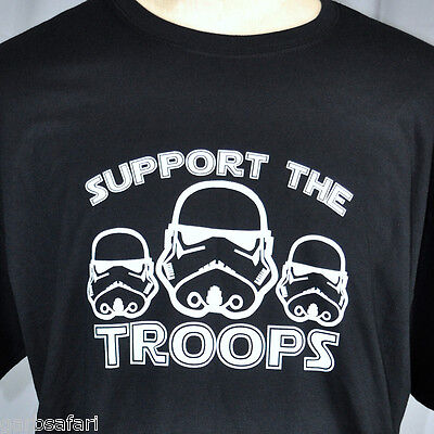 Star Wars Stormtrooper Support The Troops T-shirt XL New Patriotism Parody Spoof