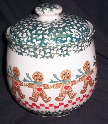 Tienshan Folkcraft   Gingerbread Cookie Candy Jar Mint!!