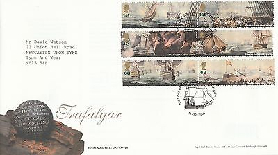 2005 GB Trafalgar Stamps First Day Cover Special Portsmouth PMK Ref: MT377