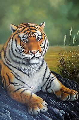 """+++Free shipping Modern Art Oil Painting On Canvas:""""Tiger"""" 20""""x24"""" inch"""