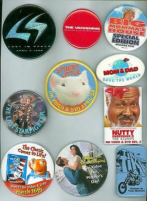 10 Vintage 1970s-90s Movie Advertising Pinback Buttons Big Momma's House