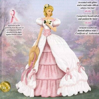 Hope is in Bloom Lady  Figurine - Breast Cancer Awareness