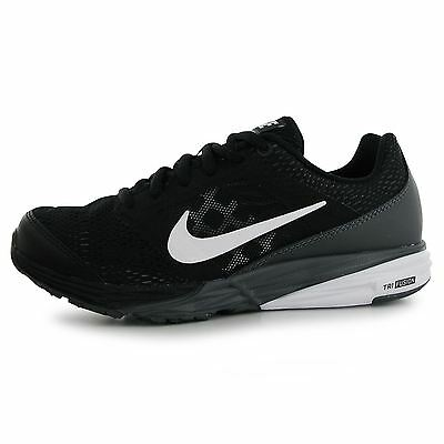Nike Tri Fusion Running Trainers Juniors Black/White Sports Shoes Sneakers