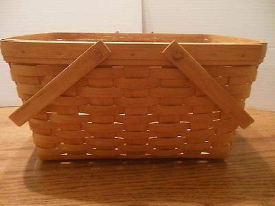 Longaberger 1997 New Old Stock Medium Market Basket & Protector