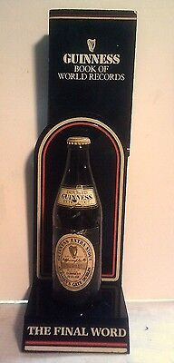 Vintage Guinness Black Bar - Counter Display  World of Records and Bottle 1985