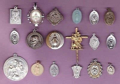 Christianity - Religious - Medals Pendants /Charms/Cross - Collection Lot #A