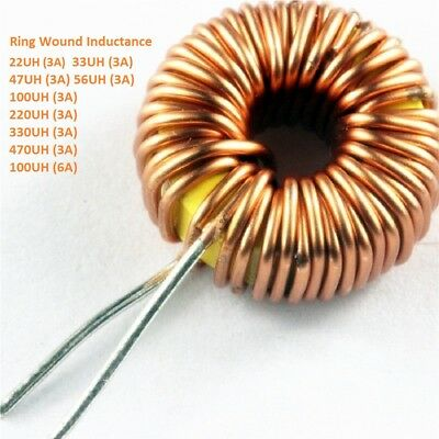 Toroid Core Inductor Ring Wound Inductance 22/33/47/56/100/220/330/470 UH New