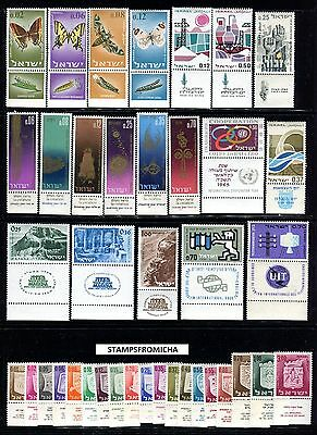 Israel 1965 Complete Year Set of Mint Never Hinged Stamps Full Tabs