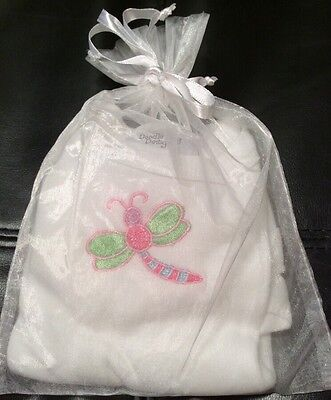 NWOT Doodle Bug Infant Newborn Gift Boutique Shirt Embroidered Dragonfly Bug
