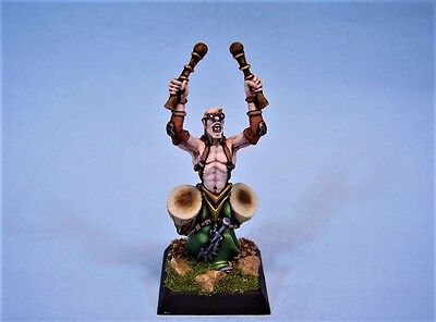Confrontation painted miniature Dirz warrior Drummer (30 day listing)
