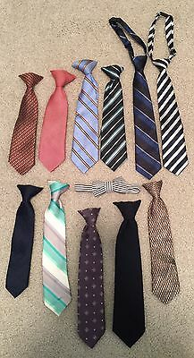 Boys Lot Of Neckties & Bow Tie Size 24 Mo To 4T
