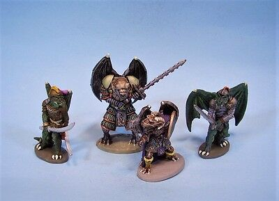 Clearance painted miniature Ral Partha Draconians (4) (30 day listing)