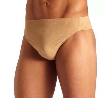 Capezio Men's Reinforced Front Lined Dance Thong / Belt N26 Tan Size: Small J15