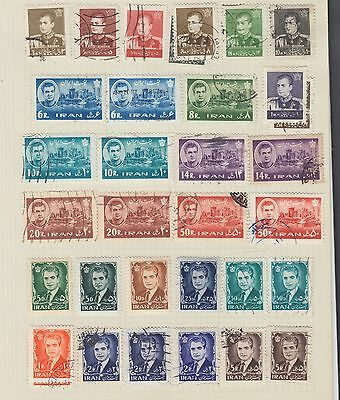 "£1.49 start -  An old album page of ""PERSIA"" issues, Mint & Used (1962)"