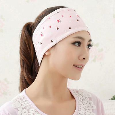 PINK Pregnant Woman Postpartum Headband Windproof Cotton Month Scarf Turban N