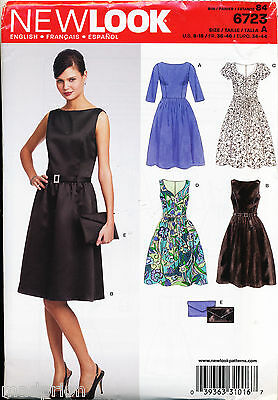 New Look Sewing Pattern 6723 Misses 8-18 Retro Style Dress W/ Princess Seams