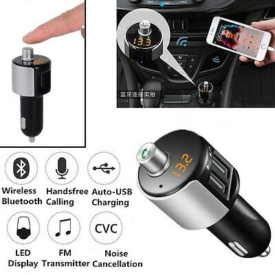 NEW Bluetooth FM Transmitter Wireless Radio Adapter 2USB 3.1A Charger Mp3 Player