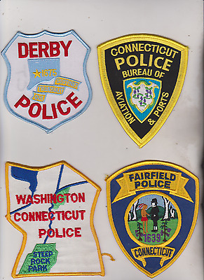 Fairfield, Washington, Derby & CT Aviation & Ports Police patches