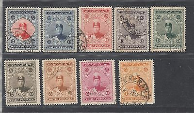 "£1.49 start -  A group of nine ""PERSIA"" 1924 issues SG577-85 (1918)."