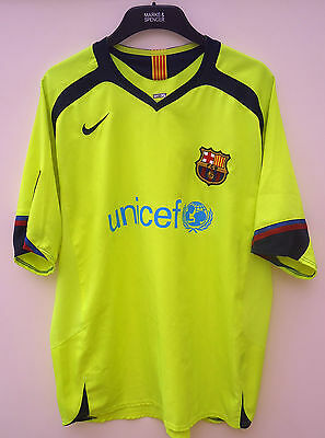 Barcelona  Official  Football Shirt By Nike Size Xl