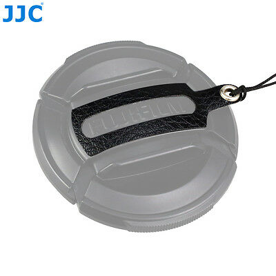 JJC Leather Stickup Lens Cap Keeper String Rope for Fujifilm FLCP-52mm lens Cap