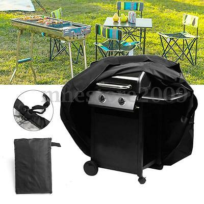 Heavy Duty Waterproof BBQ Cover Gas Barbecue Grill Protection Outdoor Black