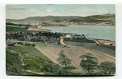Campbeltown, Argyllshire - general view - 1905 used postcard
