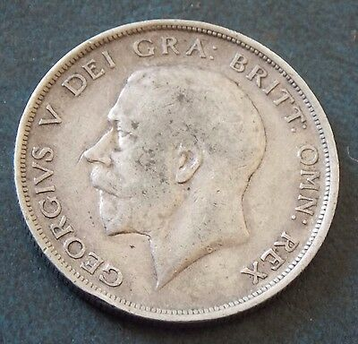 1914 George V Sterling Silver Half Crown Coin Very Nice Condition
