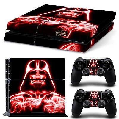 Ps4 Playstation 4 Console Skin Decal Sticker Star Wars Darth Vader + 2 Contro...