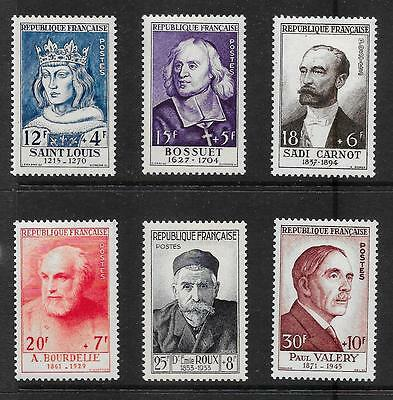 FRANCE 1954 National Relief Fund set of 6 vf MINT hinged SG 1215 - 1220