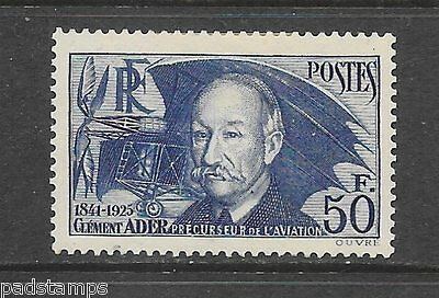 FRANCE 1938 50fr Clement Ader vf MINT hinged  SG 612a