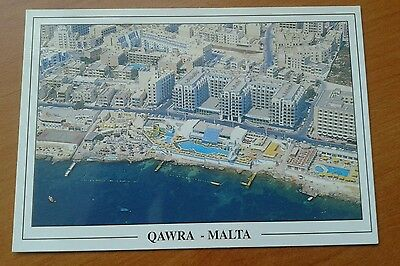 Picture postcard of Qawra Malta the seafront it is unposted