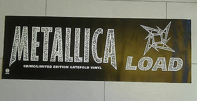 Metallica Load Promo Window Display Poster 39 x 13 inches