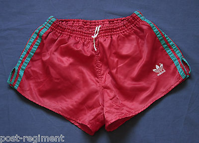 ADIDAS SHORTS Glanz Sprinter Nylon Shiny Silky D5 Retro Vintage Sporthose Gay 80
