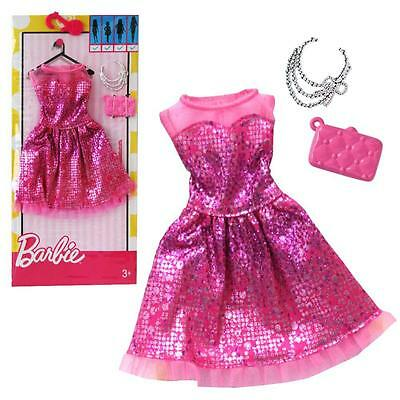 Barbie - Trend Fashion for Barbie Doll Clothes - Cocktail Dress Metallic