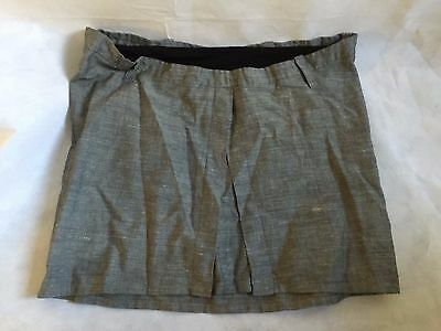 Womens FORMES PARIS maternity skirt grey Size 36 good condition RRP£80