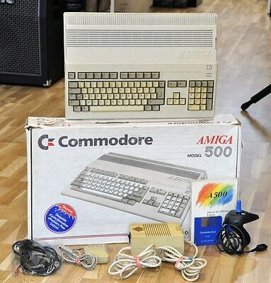 Boxed Commodore AMIGA 500 A500 Mouse Joystick Manual & GAME - Free World Ship!