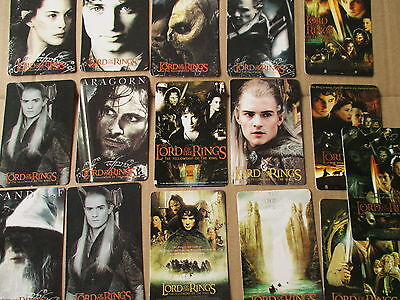 15 Calendar Cards 2002**lord Of The Rings**fellowship Ofthe Ring